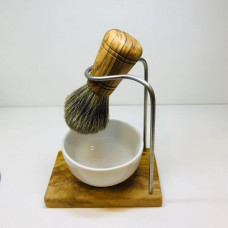 Shaving brush badger hair with holder