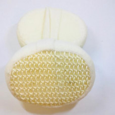 Bath sponge with sisal