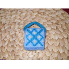 felted soap diamond motif